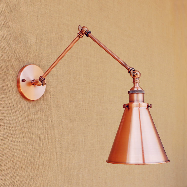 IWHD Edison Swing Long Arm Wall Light LED Retro Loft Industrial Vintage Wall Lamp Home Lighting Wandlamp Lamparas De Pared iwhd loft vintage led wall lamp glass lampshade retro industrial wall lights bedside light fixtures for home lighting luminaire