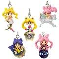 [PCMOS] 2017 Nuevo Anime Sailor Moon Twinkle Dolly Parte 3 Correa Del Teléfono Encanto Figura Ninguna Caja 5 unids/set Envío Libre 5803-L