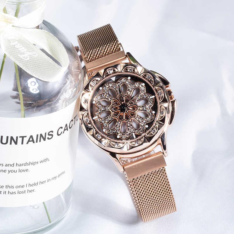 CIVO reloj de lujo para mujer con esfera giratoria para mujer reloj de cuarzo Casual correa de malla analógica resistente al agua reloj de vestir para mujer Montre Femme
