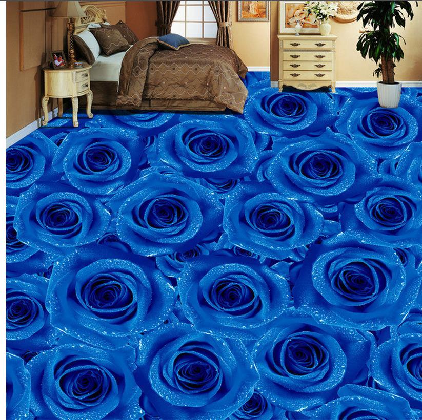 blau rosen tapete-kaufen billigblau rosen tapete partien aus china ... - Rosentapete Schlafzimmer