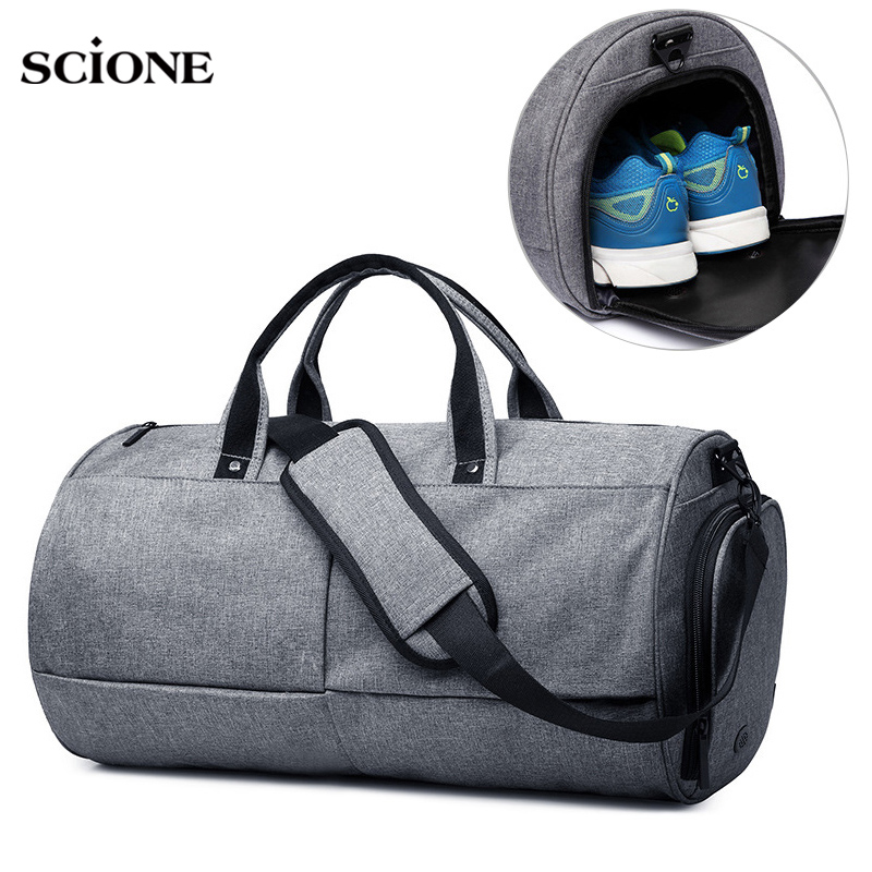 Outdoor Sports Bag for Women Fitness Men's Gym Bag Shoes Storage Multi-purpose Shoulder Bags Travel Duffel Luggage Bolsa XA575YL цена 2017