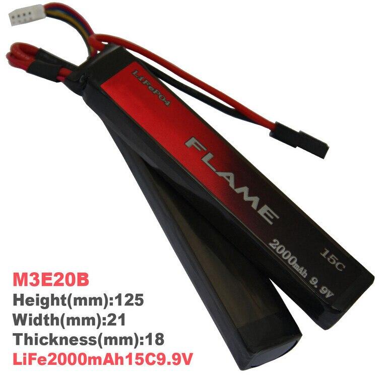 1pcs 100% Orginal Flame 9.9V 2000mAh 15C LiFePO4 Battery 2cell M3E20B Drop shipping запонка arcadio rossi запонки со смолой 2 b 1026 20 e