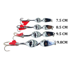 Vivid-worlD 1pc Fishing Lures Spoon Metal Crank Bait With Tackle Hook Bass Fishing Lure Hard Spinner Baits