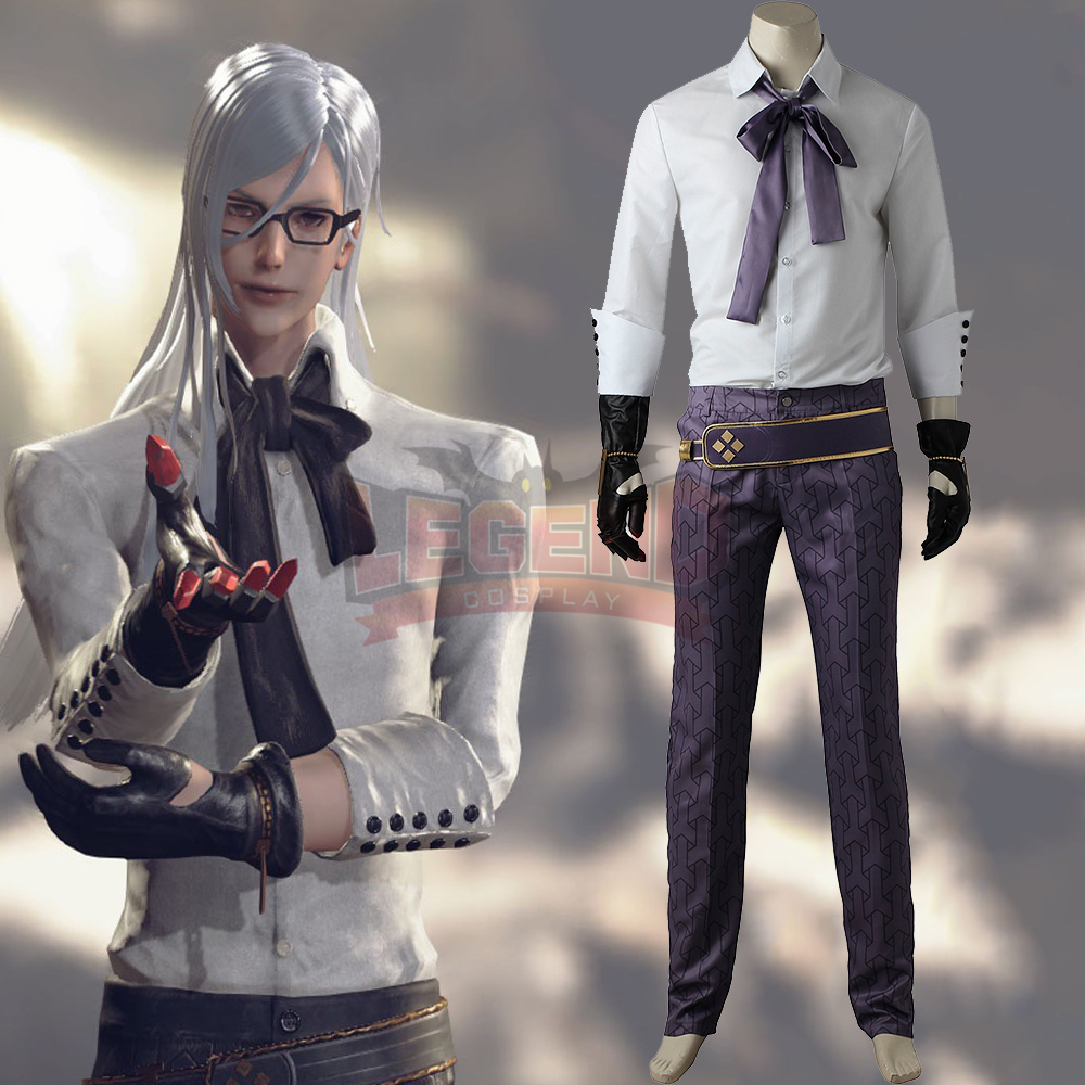 NieR Automata Adam Cosplay Costume Outfit Game Halloween White Suit Clothing Adult Men Unisex Carnival Party Costume Custom Made