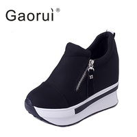 Gaorui The Latest Fashion Four Seasons Gear Casual Women Shoes Flat Paltform Loafers Female Shoes