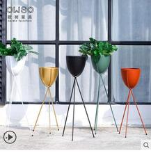 Nordic iron green flower stand floor several indoor balcony plant flowerpot simple and modern