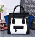 Fashion newest Women's handbag  color block mobile smiley bags office lady one shoulder messenger bag cute