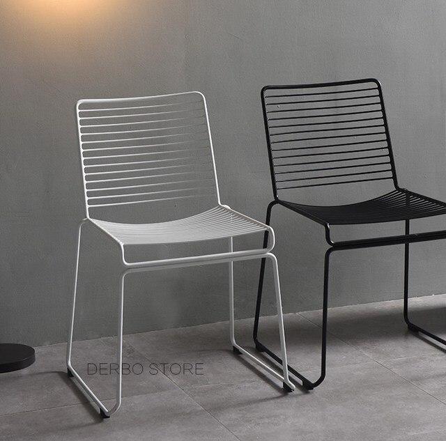 Studio Wire Hee Chair Modern Clic Metal Outdoor Stackable Harry Bertoia Steel Cafe Side
