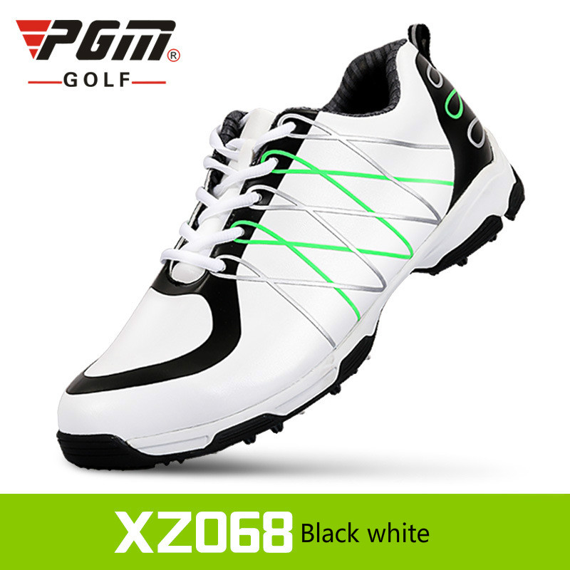 2018 PGM golf Microfiber Leather Summer Breathable Waterproof Patent men sport shoes Ultralight Anti-skid Sneakers Plus size pgm brand superfine leather anti skid golf shoe women 3d air guide groove patent shoes waterproof leisure sport sneakers