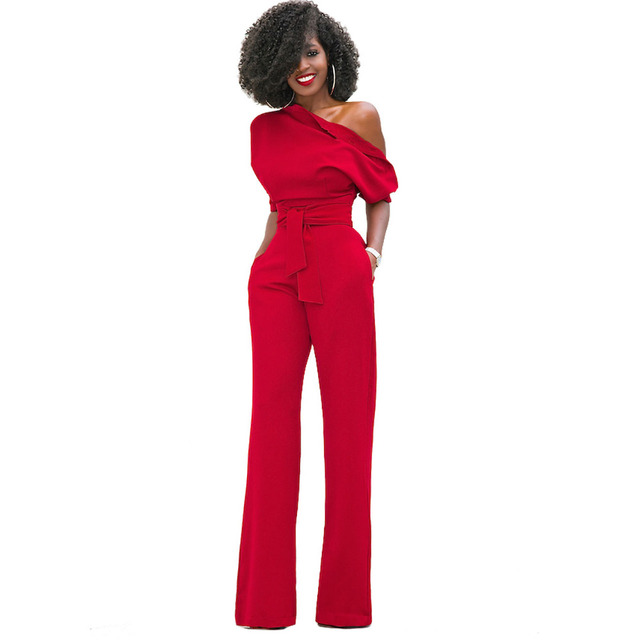 TEXIWAS nowy moda Off Shoulder eleganckie kombinezony kobiety Plus rozmiar 2XL pajacyki Multicolor kombinezony z krótkim rękawem kobiet kombinezony