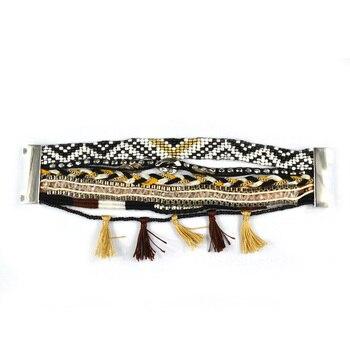 Woman Bracelet Manchette 2018 Bead Magnetic Clasps Brazilian Boho Bracelet Men Wrap Cristal Wristband Bohemian Jewelry