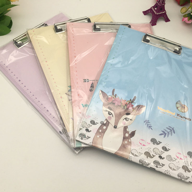 1pc Creative Vertical WordPad A4 Paper File Splint Splint Student Writing Pad Folder Cartoon Folder A4 Writing Board Folder