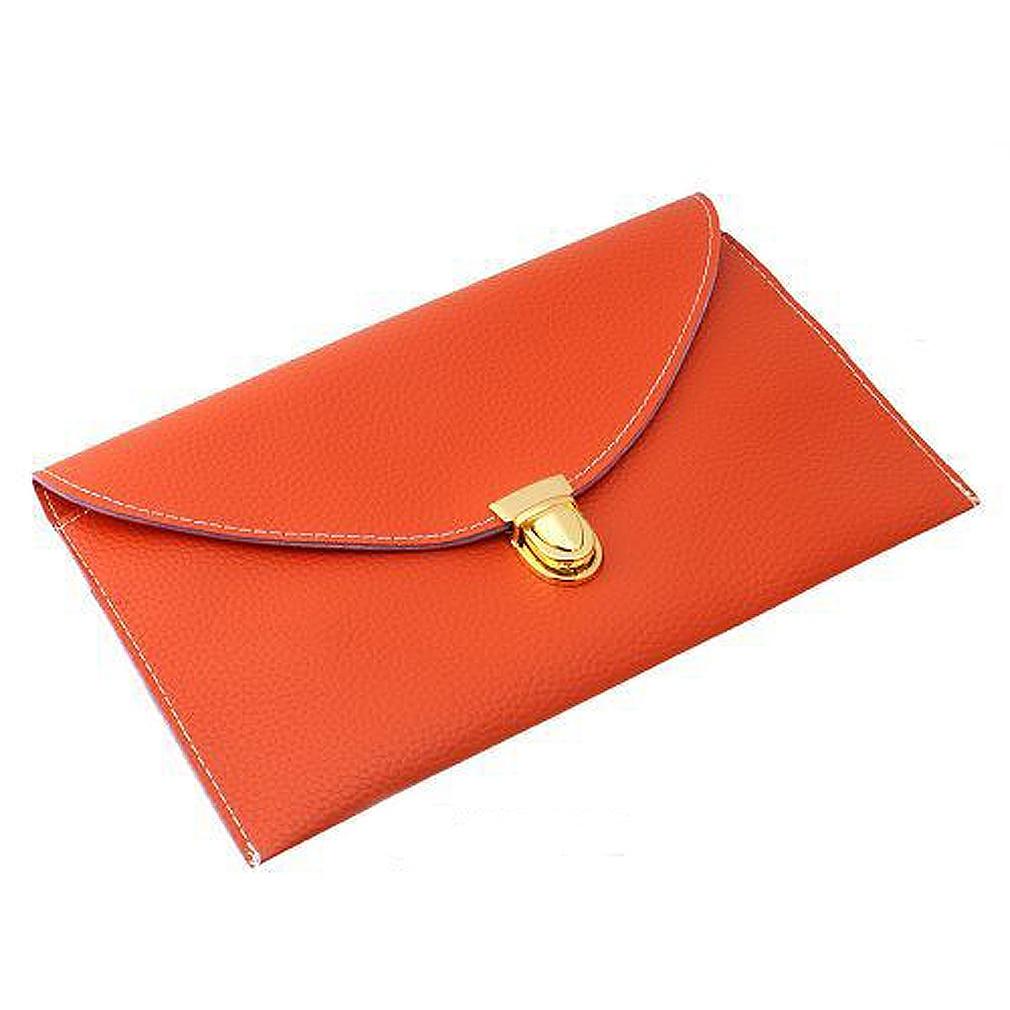 NEW Women <font><b>HandBag</b></font> Envelope Clutch Chain Purse Lady <font><b>Handbag</b></font> <font><b>Tote</b></font> Shoulder Messenger - <font><b>Orange</b></font>