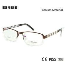 Men Titanium Eyeglasses Frame High Quality Optical Man Half Rim Glasses Accept Prescription Eyewear
