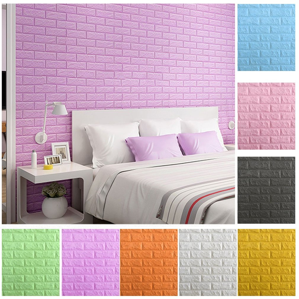 Diy Colorful Rooms: Colorful Foam 3D Brick Wall Stickers DIY Self Adhesive