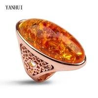 YANHUI Kobiety Unikalne Pierścionki Naturalne Magiczne Opal Kamień Złoty Kolor R3243 Rings Antique Biżuteria Ślubna Nowy Moda Rings dla Kobiet