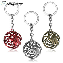 dongsheng Game Of Thrones Keychain Daenerys Targaryen Badge Dragon Alloy Keyring Song Of Ice And Fire Key Chain Ring Chaveiro-30