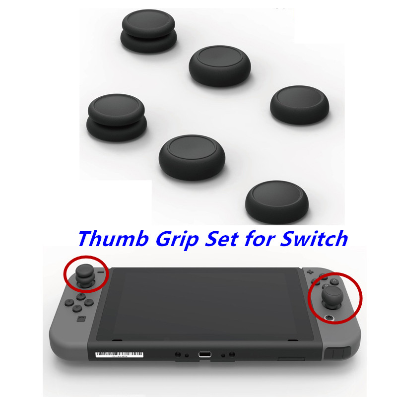 Skull & Co. FPS Master CQC Elite Thumb Grip Set Joystick Cap Thumbstick Cover for Nintend Nintendo Switch NS Joy-Con Controller