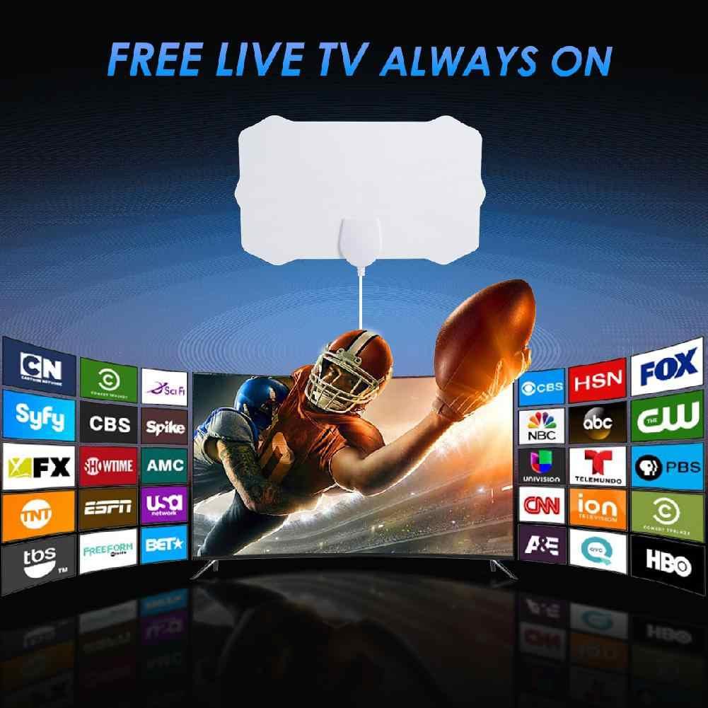 Sinal da antena 200 milímetros faixa plana TV LumiParty 4 K indoor antena digital HDTV HD 1080 P Skylink sem amplificador
