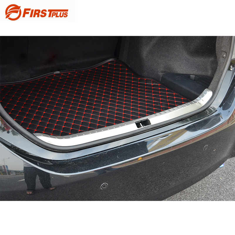 For Toyota Corolla 2014-2017 Car Boot Trunk Rearguards Trim Stickers Stainless Steel Rear Bumper Protector Sill Plate Cover for nissan x trail t32 2014 2018 car rearguards stainless steel rear bumper trunk fender sill plate protector guard covers trim