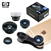 Apexel fish eye wide angle macro cpl filter camera lens kit for iphone 7 7plus 6s.jpg 200x200