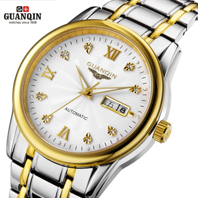 GUANQIN Watch Men GQ10050 Waterproof 30m Watches Luminous Mechanical Watch Sapphire Mechanical Wristwatches 2016 New guanqin gq70005 men auto mechanical watch