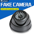 Negro Cámara Simulada Falsa Con Luces Intermitentes LED CCTV Cámara de Seguridad Para Uso de Seguridad de la Propiedad