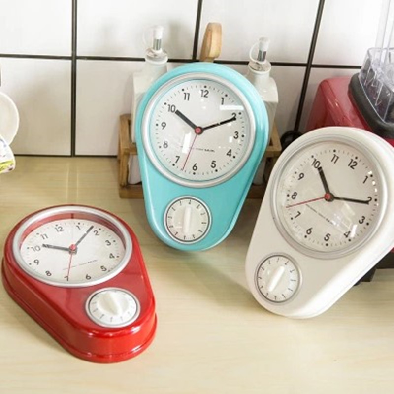 Creative kitchen wall clock Modern and simple Timer Alarm Mini personality Small household clocks Timer Cooking