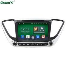 Greenyi Android 6.0 8 основной для Hyundai Verna Solaris 2017 автомобильный DVD GPS навигации автомобиля Радио аудио-видео плеер GPS мультимедиа