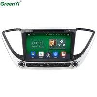 GreenYi Android 6.0 8 Core Voor Hyundai Verna Solaris 2017 auto DVD GPS Navigatie Autoradio Audio Video Player GPS Multimedia