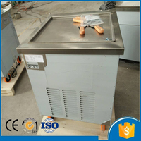 Free shipping by sea 220v/50hz R410A refrigerant single flat pan ice cream making machine commercial