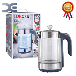 1.8L Water Kettle Glass Handheld Instant Heating Electric Water Kettle Auto Power-off Protection Wired Kettle HG-7821