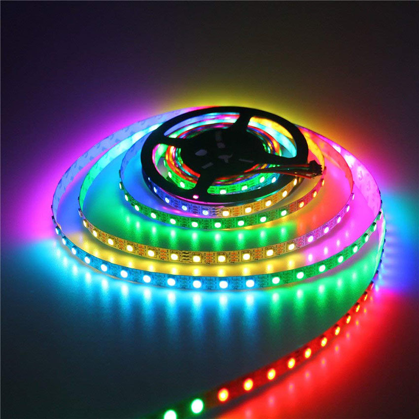 5m Ws2812b Ws2812 Led Strip 30/60leds/m Dc5v Individually Addressable Smart Ws2812 Ic Dream Color Smd5050 Rgb Led Pixel Tape High Safety Led Strips