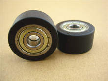 Free Shipping 31.5 mm Nylon Roller Wheel Plastic Bearing CNC Guiding Wheel Flat Belt Idler цены