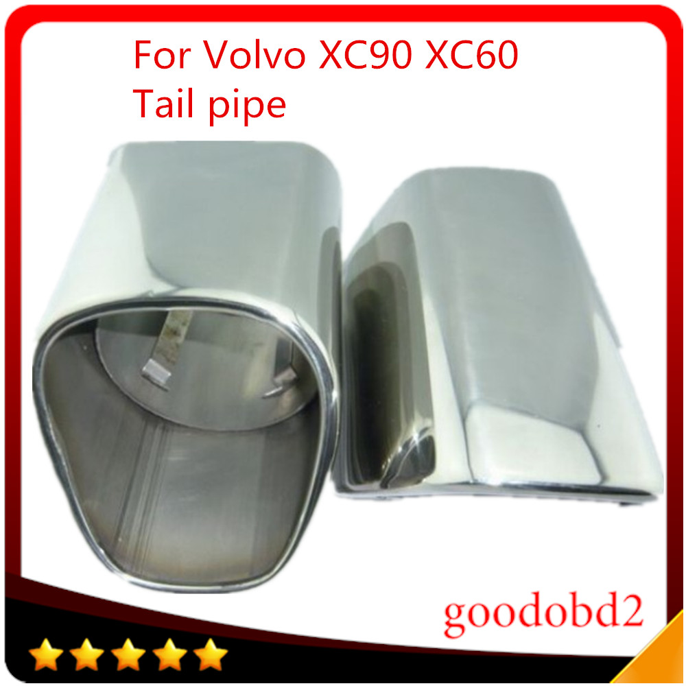 Muffler Tip Stainless Steel Exhaust Muffler Exhaust Pipe Car Tail Pipes Fit For VOLVO XC90 XC60 tail pipes auto Car accessories stylish stainless steel car exhaust pipe muffler tip for benz 320 350 500