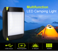 Outdoor Rechargeable Camping Light Lantern Lamp Portable Flashlight Emergency Tent Lamp With USB Hook 5 Modes Camping Tent Light