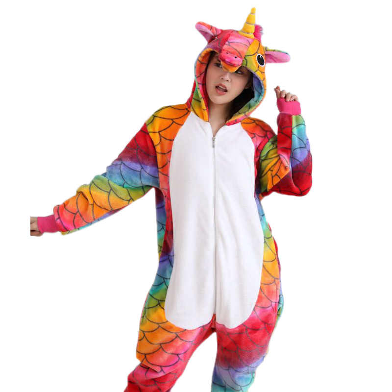 a21f15dba7 ... Animal Pajamas For Adult Unicorn Pikachu Panda Stitch Pegasus Cartoon  Cosplay Flannel Hooded Unisex Pijamas Costume ...