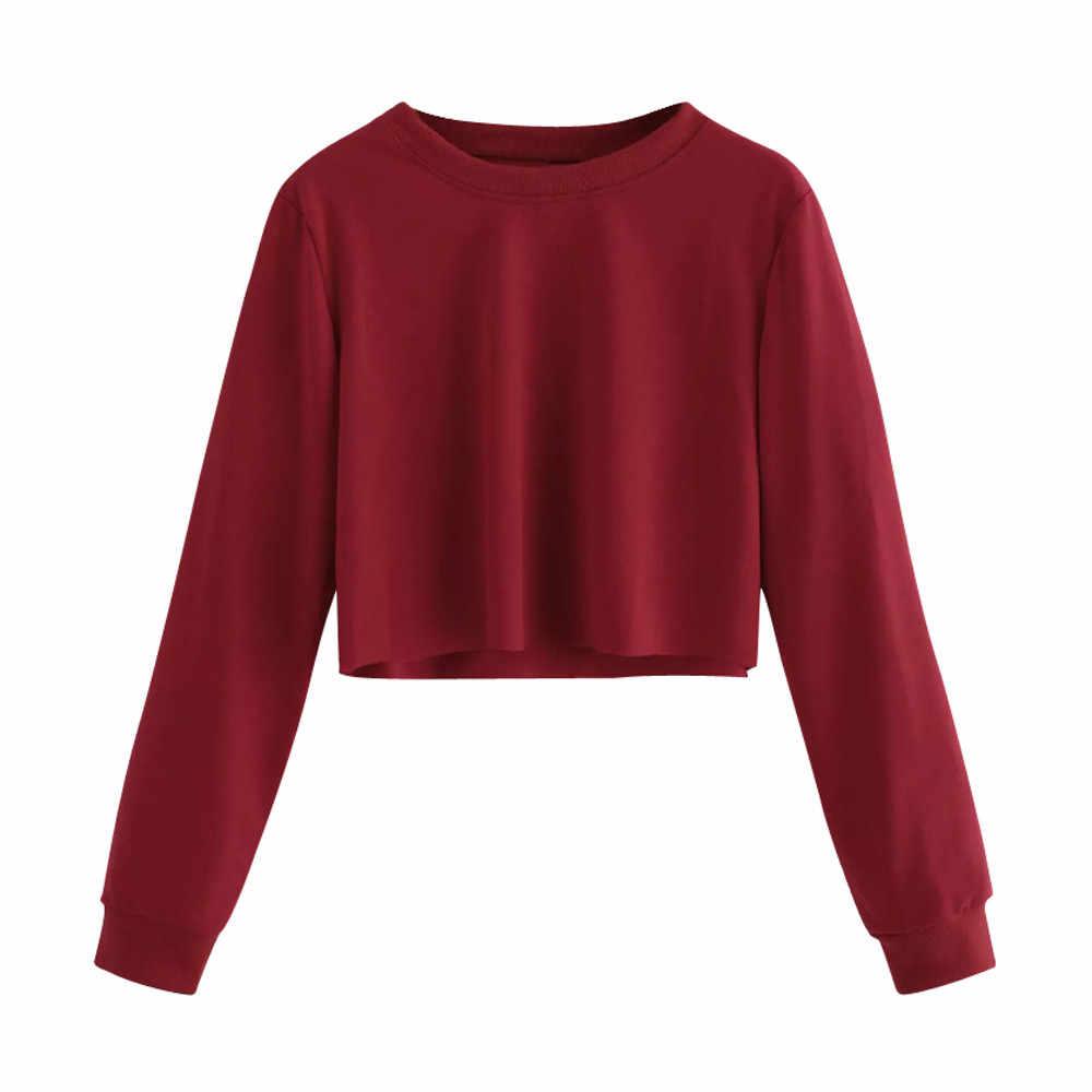 Moda damska bluza bluzy solidna krótka bluza z kapturem z długim rękawem sweter z kapturem płaszcz bluza w stylu Casual Top 2020 gorąca sprzedaż