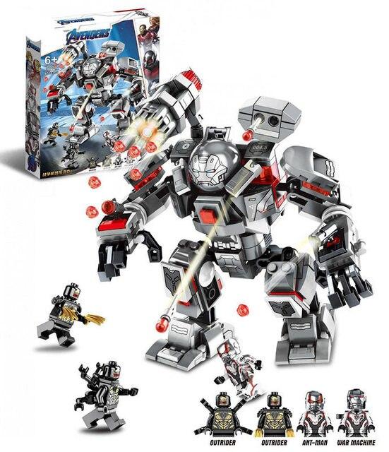 New Marvel Superhero Toy Compatível com O Logotipo 07120 76124 Máquina de Guerra Buster Conjunto Bloco de Construção de Tijolos Montagem Presentes