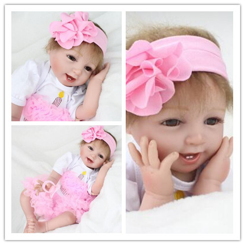 Children's gift to accompany sleeping silicone reborn baby dolls doll early education training maternal and child photography an empathetic approach to physical education teacher education