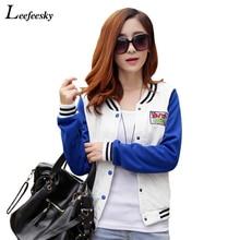 Hot Sale 2016 Spring Coat Baseball Jacket Women Fashion Bomber Jacket Casaco College Varsity Jackets jaquetas feminina XXL