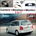 3 in1 Special Wifi Camera + Wireless Receiver + Mirror Monitor Easy DIY Parking System For Volkswagen VW Touran Golf Touran