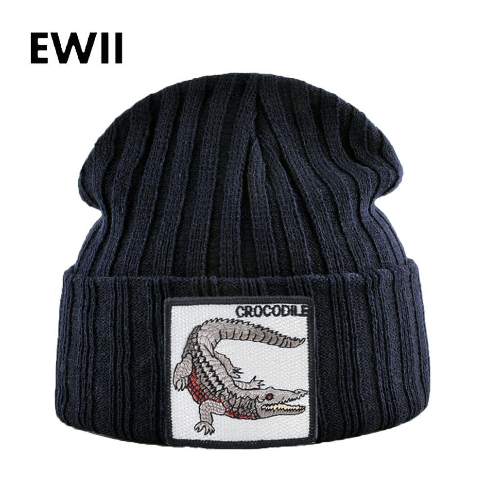 Animal hat adults   beanie   hats men   skullies     beanies   for men knit warm caps chapeau femme women fashion winter cap bonnet