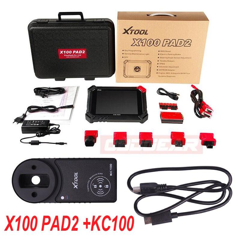 100% Original XTOOL X100 Pad2 Pro KC100 Wifi Bluetooth with VW 4th 5th X100 PAD 2 Pro Auto Key Programmer Better X300 Pro3