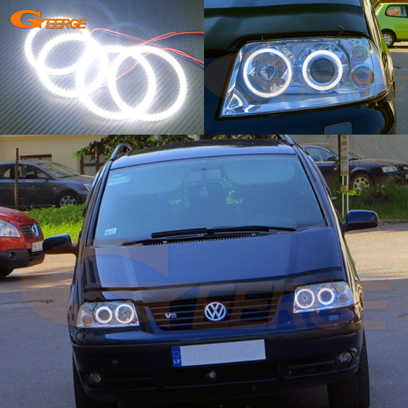 For Volkswagen VW Sharan 2000-2010 Xenon headlight Excellent Ultra bright illumination smd led Angel Eyes Halo Ring kit