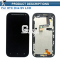 Black For HTC Desire SV T326e Display Touch Screen Digitizer Assembly + Frame Free Shipping with tools