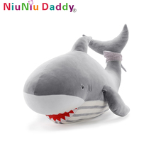 Niuniu Daddy Dolphin Shark Whale 60cm Doll Sea Beach Animal Plush Toy Large Bantal Doll Cushion Girl Baby Children Birthday Gift