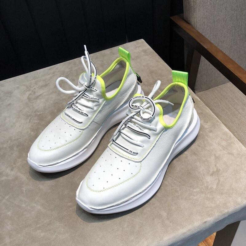 Outono Casuais Botas Grife Qualidade Moda Sapatos Couro Lazer Tênis Respirável Alta De Homens Da Primavera TqUxSS