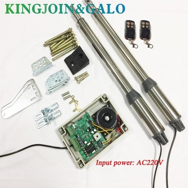 Abridor de puerta eléctrica, 300 KG, Motor de puerta oscilante con 2 mandos a distancia, OEM