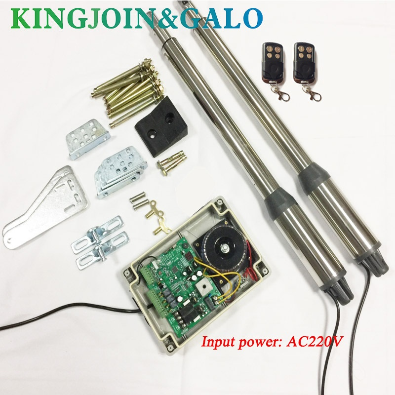 Elektriske porte / Electric Swing Gate Opener 300 KG Swing Gate-motor med 2 fjernbetjening OEM